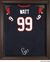 Houston Texans Brown Framed Logo Jersey Display Case