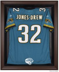 Jacksonville Jaguars Brown Framed Logo Jersey Display Case - Mounted Memories