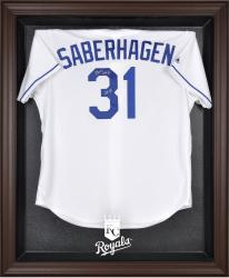 Kansas City Royals Brown Framed Logo Jersey Display Case - Mounted Memories