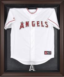 Los Angeles Angels of Anaheim Brown Framed Logo Jersey Display Case