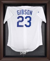 Los Angeles Dodgers Brown Framed Logo Jersey Display Case