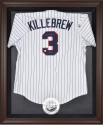 Minnesota Twins Brown Framed Logo Jersey Display Case - Mounted Memories