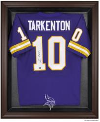 Minnesota Vikings Brown Framed Logo Jersey Display Case - Mounted Memories