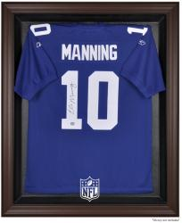 NFL Brown Framed Logo Jersey Display Case - Mounted Memories