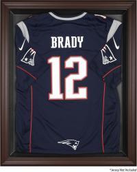 New England Patriots Brown Football Display Case