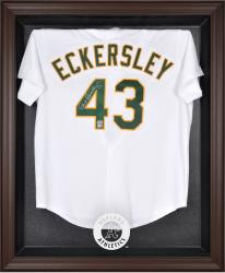 Oakland Athletics Brown Framed Logo Jersey Display Case