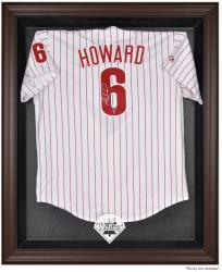 Philadelphia Phillies Brown Framed Logo Jersey Display Case - Mounted Memories