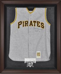 Pittsburgh Pirates Brown Framed Logo Jersey Display Case - Mounted Memories