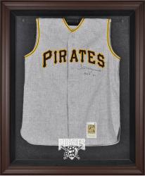 Pittsburgh Pirates Brown Framed Logo Jersey Display Case