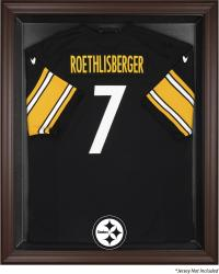 Pittsburgh Steelers Brown Framed Logo Jersey Display Case