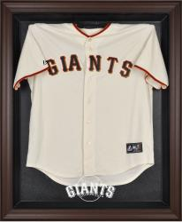 San Francisco Giants Brown Framed Logo Jersey Display Case - Mounted Memories