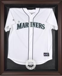 Seattle Mariners Brown Framed Logo Jersey Display Case