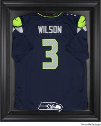 Seattle Seahawks Black Frame Jersey Display Case - Mounted Memories