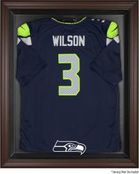 Seattle Seahawks Brown Framed Logo Jersey Display Case