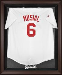 St. Louis Cardinals Brown Framed Logo Jersey Display Case