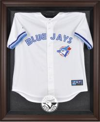 Toronto Blue Jays Brown Framed Logo Jersey Display Case - Mounted Memories