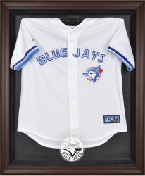 Toronto Blue Jays Brown Framed Logo Jersey Display Case