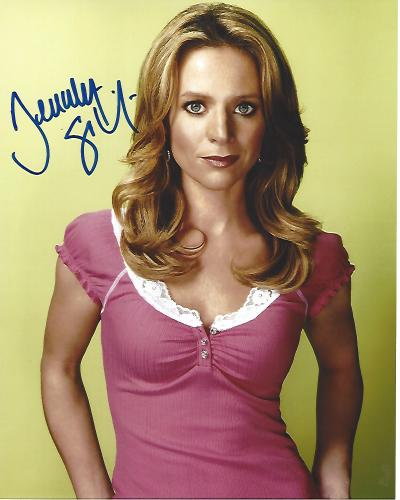 """JESSALYN GILSIG as TERRI SCHUESTER on TV Series """"GLEE"""" Signed 8x10 Color Photo"""
