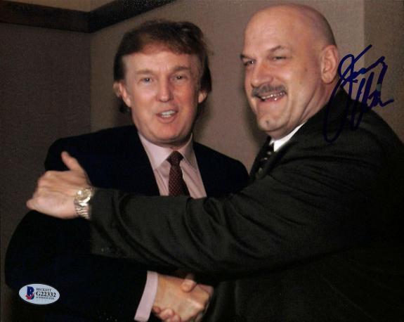 Jesse 'The Body' Ventura Signed 8x10 Photo w/ Donald Trump BAS #G22332