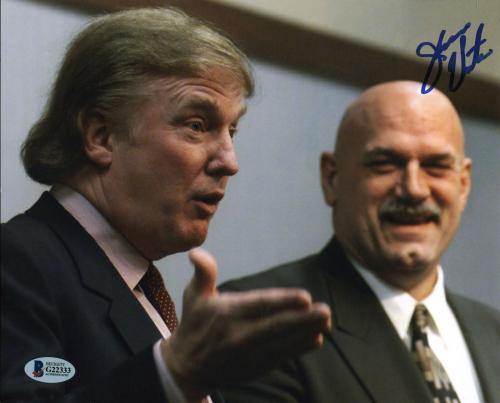 Jesse 'The Body' Ventura Signed 8x10 Photo w/ Donald Trump BAS #G22333