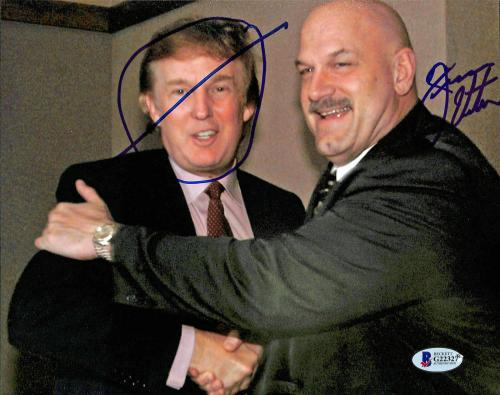 Jesse Ventura WWE Wrestling Signed 8x10 Photo w/ Donald Trump BAS #G22327