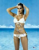 """Jessica Alba Autographed 11"""" x 14"""" Posing in Swimsuit with Hands Behind Head Photograph - Beckett COA"""