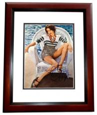 Jessica Alba Signed - Autographed 11x14 Photo MAHOGANY CUSTOM FRAME