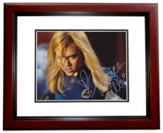Jessica Alba Autographed 8x10 X-MEN Photo MAHOGANY CUSTOM FRAME