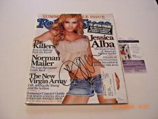 Jessica Alba Famous Actress Td/holo Signed Rolling Stone Magazine