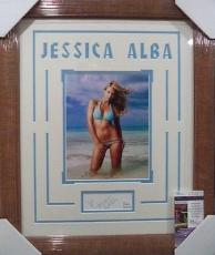Jessica Alba Movie Star Sexy Jsa Coa Signed Auto Photo Double Matted & Framed A