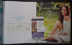 "Jessica Alba Sexy Movie Star Signed Autographed ""the Honest Life"" Book Jsa Coa B"