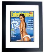 Jessica Alba Signed - Autographed Sexy Actress 8x10 inch Photo BLACK CUSTOM FRAME - Guaranteed to pass PSA or JSA