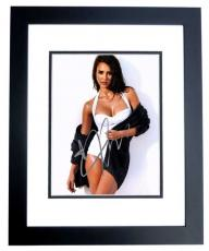 Jessica Alba Signed - Autographed Sexy Actress 8x10 Photo BLACK CUSTOM FRAME