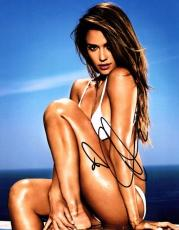 Jessica Alba Signed - Autographed Sexy Swimsuit 11x14 Photo