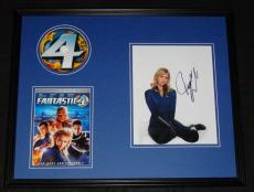 Jessica Alba Signed Framed 16x20 Fantastic Four DVD & Photo Display JSA B