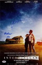 Jessica Chastain Mackenzie Foy Signed Interstellar 11x17 Photo PSA/DNA Auto