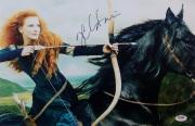 Jessica Chastain Signed Disney's Brave 11x17 Photo Auto Autograph PSA Y10943