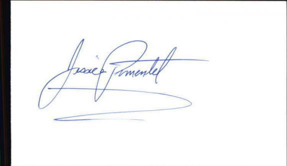 "JESSICA PIMENTEL ORANGE IS THE NEW BLACK Signed 3""x5"" Index Card"