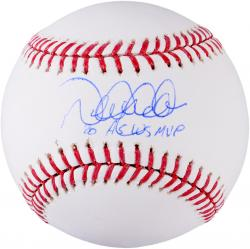 Derek Jeter New York Yankees Autographed Baseball with 00 AS WS MVP Inscription