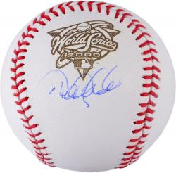 Derek Jeter New York Yankees Autographed 2000 World Series Logo Baseball with 2000 WS MVP Inscription