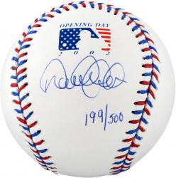 Limited Edition Derek Jeter Autographed 2002 Opening Day Baseball - LE 500