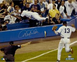 Derek Jeter New York Yankees Autographed 16'' x 20'' Dive Photograph - Mounted Memories