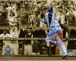 "Derek Jeter New York Yankees Autographed 8"" x 10"" Horizontal Sepia 3000th Hit Photograph"
