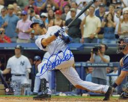 Derek Jeter New York Yankees Autographed 8'' x 10'' Horizontal 3000th Hit Swing Photograph - Mounted Memories