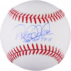 Derek Jeter New York Yankees Autographed Baseball with 3000th Hit, 7/9/11 Inscriptions