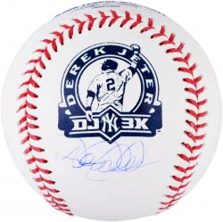 Derek Jeter New York Yankees Autographed 3000th Hit DJ3K Logo Baseball