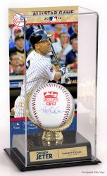Derek Jeter New York Yankees MLB 2014 All-Star Game Autographed Baseball and Sublimated Display Case