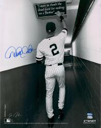 "Derek Jeter New York Yankees Autographed 16"" x 20"" B&W Tunnel Photograph"