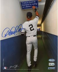 """Derek Jeter New York Yankees Autographed 8"""" x 10"""" Color Tunnel Photograph"""