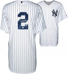 Derek Jeter New York Yankees Autographed Majestic Authentic Pinstripe Jersey
